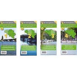 De Rouck Vaarkaarten set  van 4 stuks België