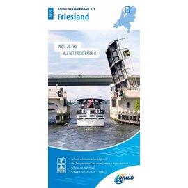 ANWB vaarkaarten ANWB Waterkaart 1 - Friesland 2019