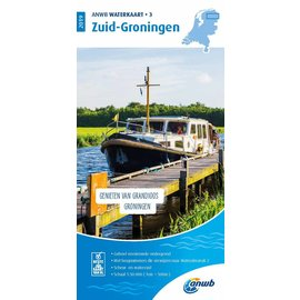 ANWB vaarkaarten ANWB Waterkaart 3 - Groningen Zuid