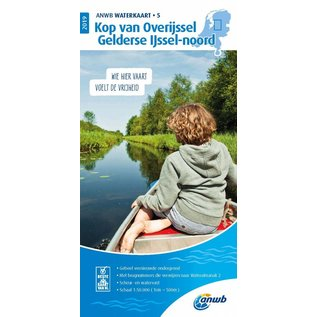 ANWB vaarkaarten ANWB Waterkaart 5 Kop Overijssel/Gelderse IJssel-Noord