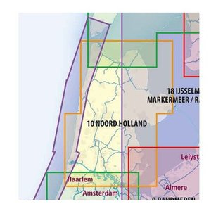 ANWB vaarkaarten ANWB Waterkaart 10 - Noord-Holland