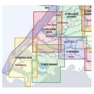 ANWB vaarkaarten ANWB Waterkaart 13 - West-Brabant