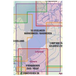 ANWB vaarkaarten ANWB Waterkaart 18 - IJsselmeer-Markermeer/Randmeren