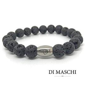 Zwarte lavasteen 10 mm