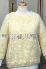 Patroon raglan trui met 3/4 mouwen