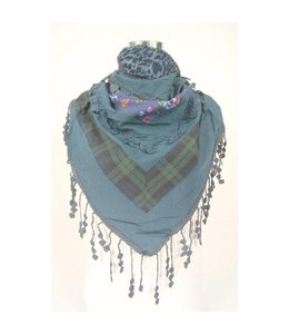Blauw sjaal