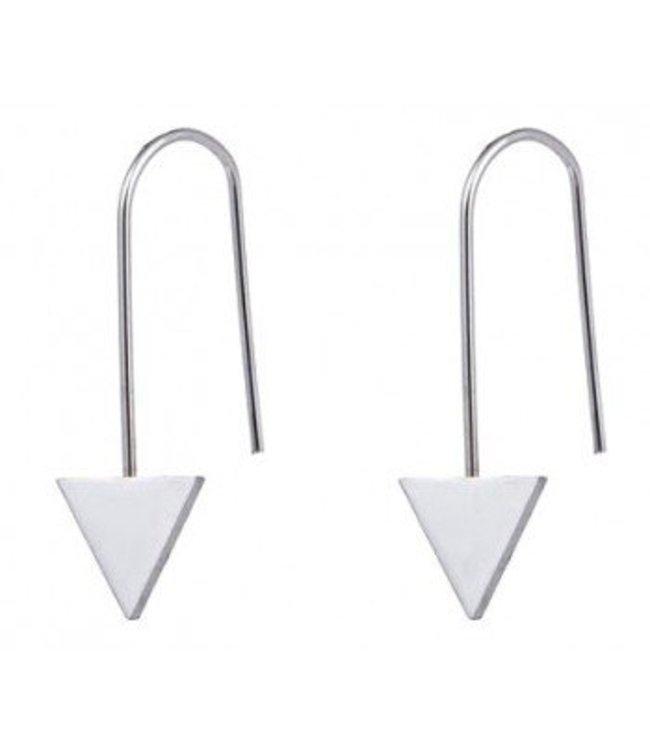 Triangle Earings -Zilver