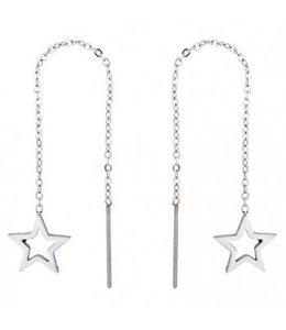 Star Earrings - Zilver