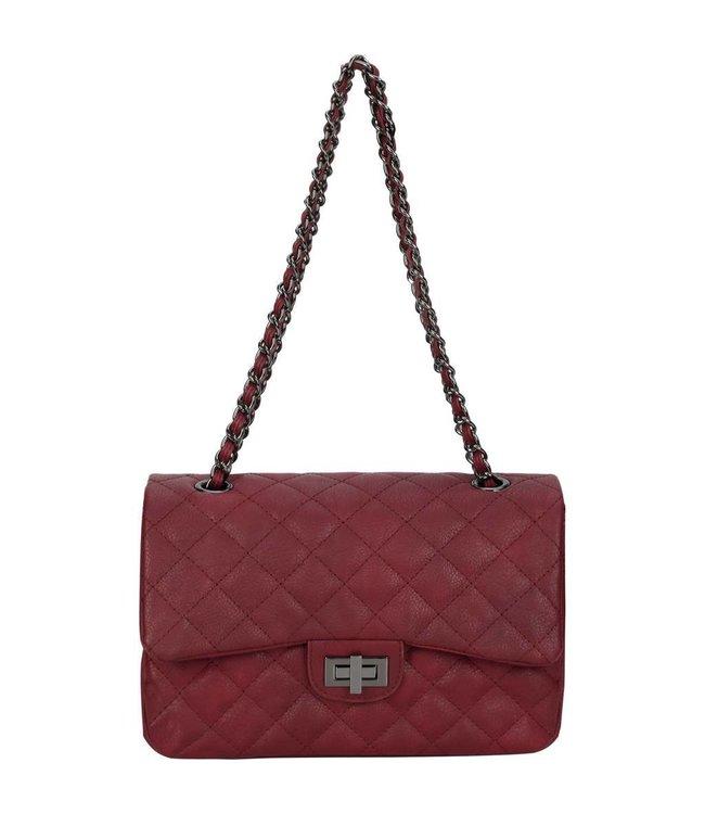 Diana&Co Rood tas van eco-leather