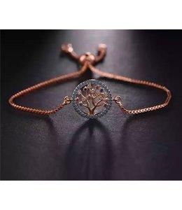 TheFashionSider Rose Gold Tree of Life Armband