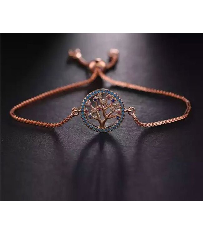 TheFashionSider Rose Gold Tree of Life Armband