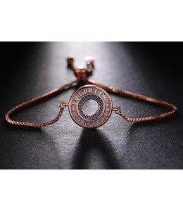 TheFashionSider Rose Gold Crystal Stones Armband