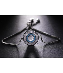 TheFashionSider Zilver  Crystal Stones Armband