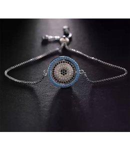 TheFashionSider Zilver Evil Eye Armband