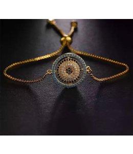 TheFashionSider Goud Evil Eye Armband
