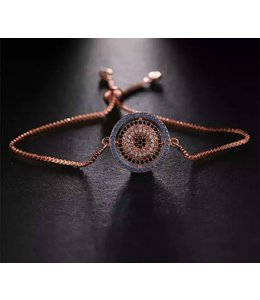 TheFashionSider Rose Gold Evil Eye Armband