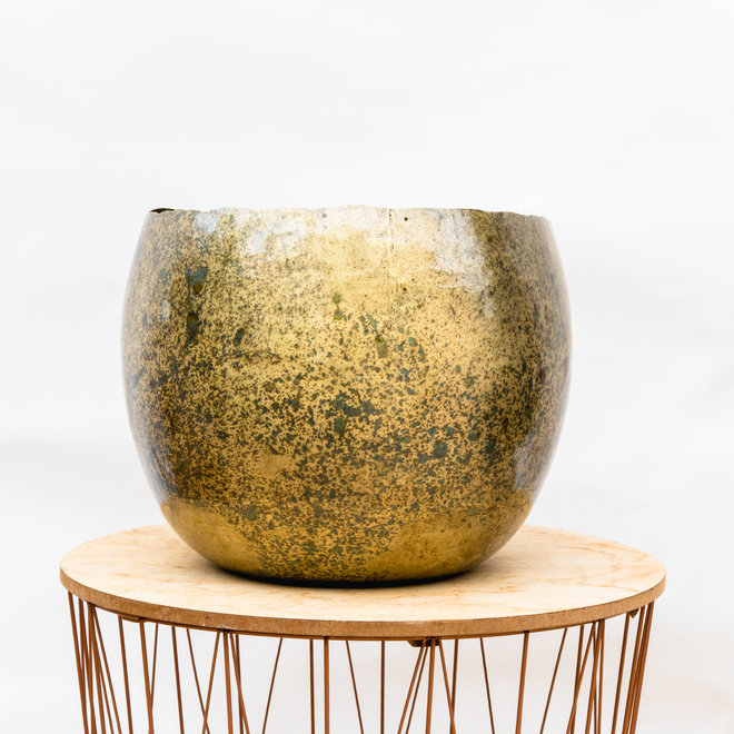 Green Bubble Pot Ellen brass