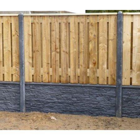 Beton tussenpaal Luxe | 100x100mm | 280cm | sp 74cm