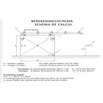 Schuifpoort compleet | 116,5cm breed