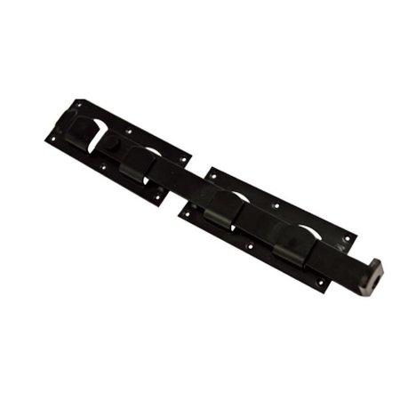 Rustiek zwart | overslaggrendel | 450mm