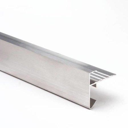 Aluminium daktrim | 45x45mm | 2.50m