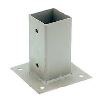 Paalplaathouder | verzinkt | 71x71mm tot 151x151mm