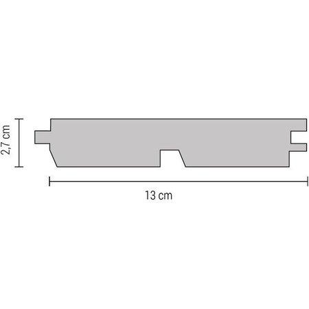 Dubbel Rhombus | Accoya | 27x145mm | 4.80m