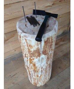 Spijkerblok | compleet met hamer/spijker