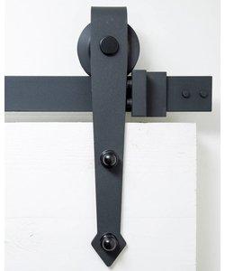 Rustiek zwart | Schuifdeursysteem | Punt