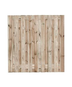 Tuinscherm Vasse | 180x180cm | 19 planks | RVS
