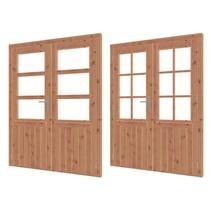 Douglas  dubbele deur met glas   159cm x 200cm
