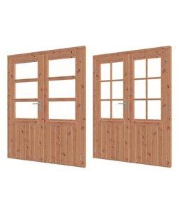 Douglas  dubbele deur met glas | 159cm x 200cm