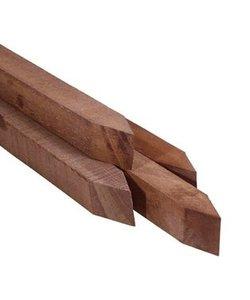 Piketpaal geschaafd | Hardhout | 65x65mm | 95cm | punt