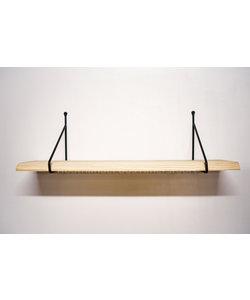 Plankdrager Driehoek Rond + Wandplank Grenen