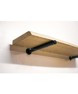 Ronde Plankdrager + Wandplank Eiken
