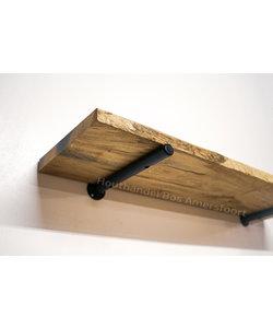Ronde Plankdrager + Wandplank Rustiek Eiken