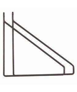 Plankdrager Driehoek Rond | Zwart