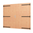Houthandel Bos Douglas opgeklampte deur | dubbel + kozijn | 169,6cm x 202,1cm