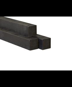 H2H paal | Zwart | 68x68mm | 2.70m