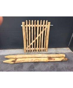 Kastanje poort | 120cm | inclusief palen + hang- en sluitwerk