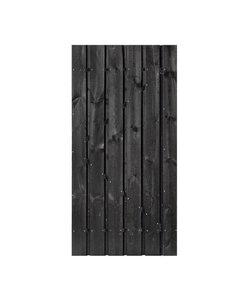 Poort Zwart gecoat+celfix  | Zwart gepoedercoat frame + RVS cilinderslot
