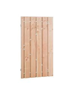 Poort Red Class Wood | frame + RVS cilinderslot