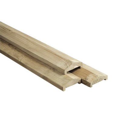 Afdeklat Dakprofiel | sponning 58x12 | 3.70m | gewolmaniseerd