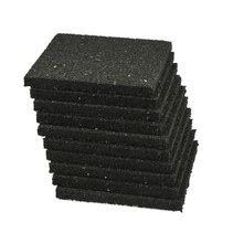 Rubberen tegeldrager | 10x10 | zwart | 4 stuks