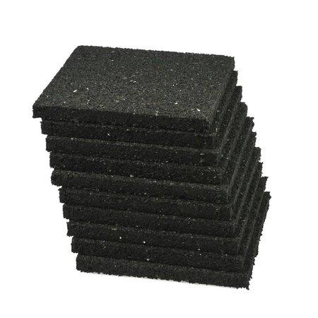 Rubberen tegeldrager   10x10   zwart   4 stuks
