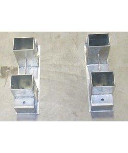 Houtrekverbinding | 70x70mm | 1 stuk los