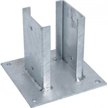 Paalplaathouder met sleuf | 121x121mm