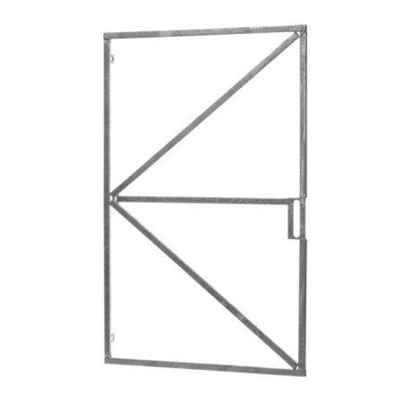 Stalen poortframe met slotkast   verzinkt