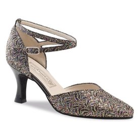 Werner Kern Dansschoenen -Betty - 6.5cm - Brocade - silver multi