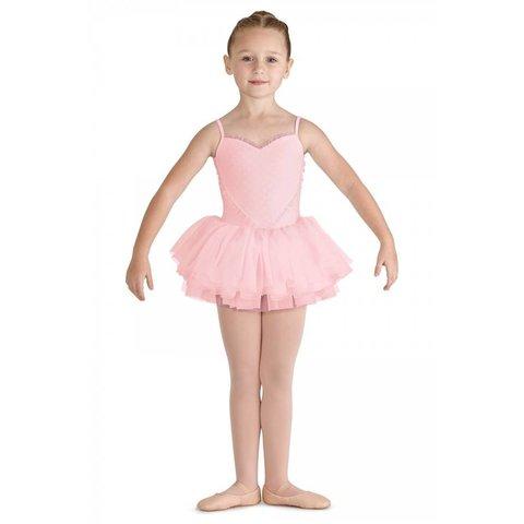 CL8168 Valentine tutu balletpakje roze / candy pink